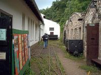 Bývalý železnorudný důl Chrustenická šachta na severním okraji ...